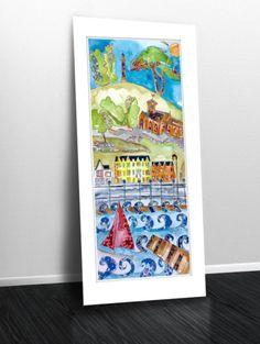A Wander round West Kirby #westkirby #wirral  #art #illustration #jennydunlopart