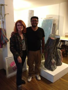 Sandra with artist Miler Lagos, whose work can be see in the Paper exhibition at the Saatchi Gallery until 29 September 29 September, Saatchi Gallery, Coming Soon, Past, Artist, Style, Swag, Past Tense, Artists