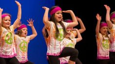 Libby Brown, 9, and the Barton Hippies showed off plenty off colour during their routine.