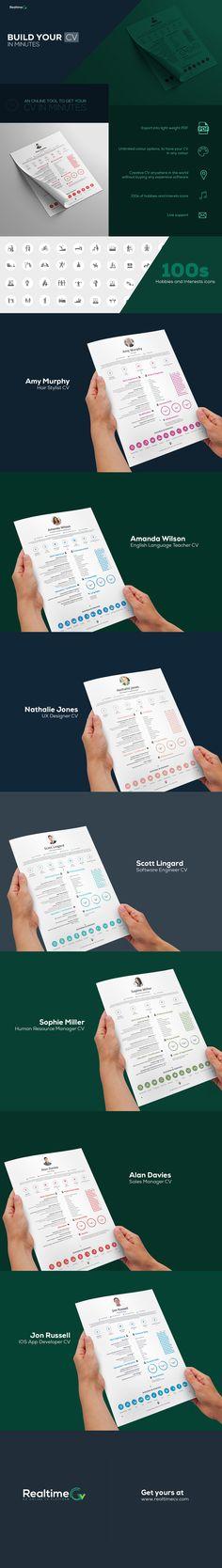Creative Timeline CV CV Design Pinterest Resume builder
