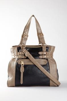 Black & beige purse