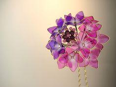 ◆額紫陽花◆アジサイ◆かんざし◆簪◆ディップアート◆蒼翠◆_画像1