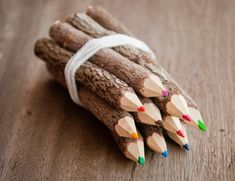Colored pencils set, handmade from recycled branches, vegan pencils set BYCOPALA 5 out of 5 stars € Is in the shopping cart of 1 person Branches, Tamarind Fruit, Wood Bark, Wooden Pencils, Wooden Tree, Pen Sets, Wood Design, Colored Pencils, Etsy
