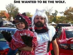 Make you smile, parenting done right, parenting win, parenting humor, paren Be Wolf, Doug Funnie, Halloween Karneval, Parenting Done Right, Parenting Win, Parenting Humor, Parenting Articles, Do It Right, Red Riding Hood