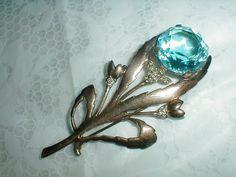 vintage sterling silver brooch flower by qualityvintagejewels