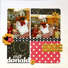 Chef Donald.Note grid LO, simple journaling spot to keep Disney pages less busy