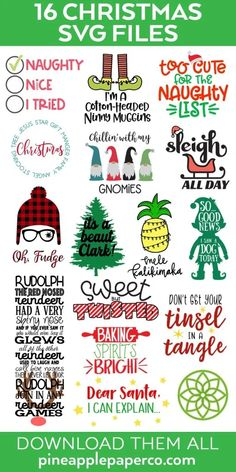 Free Christmas Story SVG 16 Christmas Cut Files We're back with more free Christmas Cut Files! Make Christmas Crafts with your Cricut Maker, Cricut Explore or Silhouette Cameo with these adorable free Christmas svg files! Christmas Crafts To Make, Merry Christmas, A Christmas Story, Christmas Gnome, Cricut Christmas Ideas, Christmas Vinyl, Christmas Planning, Christmas Quotes, Funny Christmas Sayings