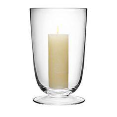 LSA LIGHT CLEAR GLASS STORM LANTERNS