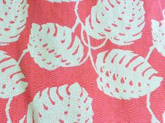 Tropical Monstera Philodendrom Woven Upholstery Fabric, 1/2 yard x 57 inches wide, Pillow, Tote, Home Dec Fabric Orange, Gold by ALLGOODTHINGS on Etsy https://www.etsy.com/listing/235448721/tropical-monstera-philodendrom-woven