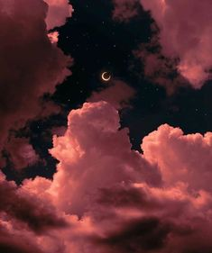 Night Sky Wallpaper, Cloud Wallpaper, Iphone Background Wallpaper, Tumblr Wallpaper, Galaxy Wallpaper, Pink Moon Wallpaper, Aesthetic Pastel Wallpaper, Aesthetic Backgrounds, Aesthetic Wallpapers