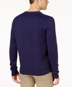 Ben Sherman Men's Union Jack Jacquard Sweater - Purple XXL