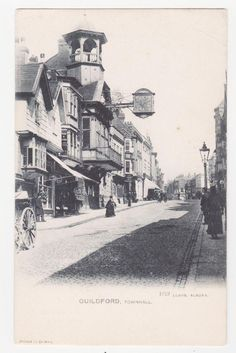 Guildford High Street England Railway Vintage Old Picture