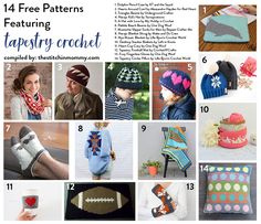 14 Free Patterns Featuring Tapestry Crochet compiled by The Stitchin' Mommy | www.thestitchinmommy.com