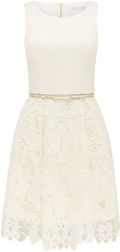 Anne lace appliquÉ skater dress