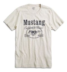 Lucky Brand - Mens XXL - Cali Classic 1968 GT/CS Ford Mustang Car Cotton T-Shirt #LuckyBrand #GraphicTee