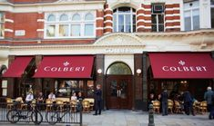 David Collins and Sands Thomas have designed the interiors and branding for the Parisian-style Colbert restaurant, due to open later this month in London's Sloane Square. French Cafe Menu, French Bistro, David Collins, Architectural Lighting Design, Restaurant Exterior, Parisian Cafe, Cafe Bistro, Bon Voyage