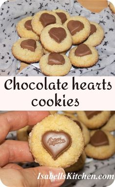 Chocolate Cookie Recipes, Homemade Chocolate, Chocolate Cookies, Milka Chocolate, Chocolate Hearts, Dessert Cake Recipes, Easy Desserts, Best Breakfast Recipes, Brunch Recipes