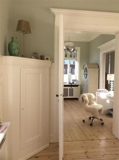 An inspirational image from Farrow & Ball. Cromarty and Wimborne white Decor, Home Decor Styles, Home, Modern Country, Farrow Ball, Modern Country Style, Country Style Homes, Country House Decor, Wimborne White