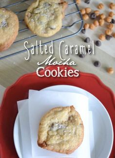 Don't miss this deliciously easy recipe for Salted Caramel Mocha Cookies