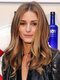 Sexy summer hair colour trends: bronze goddess Olivia Palermo has an almost metallic shine at the moment. #hairspiration