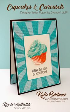 Kylie Bertucci - Be Inspired Design Team Blog Hop. Cupcakes and Carousels, Sweet Cupcakes and All things Thanks.