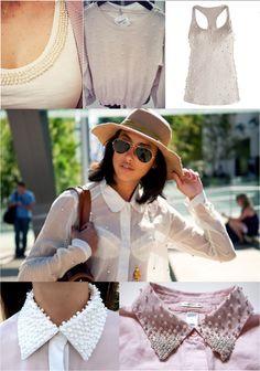 Balaio Fashion: Faça Você Mesmo: Como Customizar Seu Shorts ou Blusa com Pérolas.