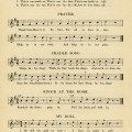 vintage sheet music, songs for September, kindergarten music, simple songs for children, old book page
