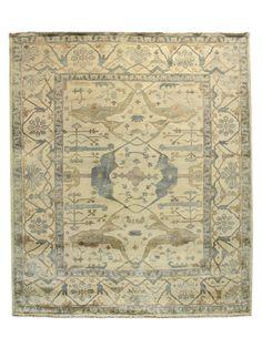 I love Gilt.  One of a Kind Indo-Oushak Hand-Knotted Rug (8 3 x 9 9) - Gilt Home