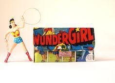 WONDER WOMAN Tabaktasche D.C. Comic upcycling Unikat! Tabakbeutel Supergirl, Superheldin dc Comic Tasche Recycling handmade in Berlin von PauwPauw auf Etsy