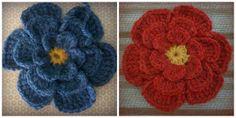 Free Pattern Big Crochet Flower Brooch