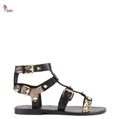 Ash Morocco Sandales Noir Femme 36 EU Noir/Roccia - Chaussures ash (*Partner-Link)