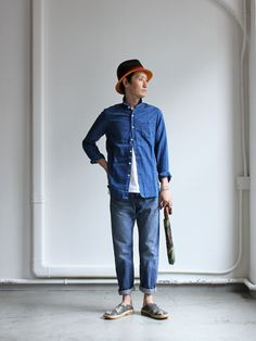 maillot Sunset indigo small collar shirts MAS-022  : Strato