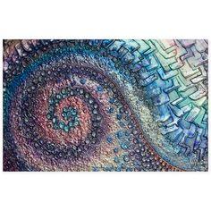 Victoria Stothard - Nautilus, Mixed Media & Acrylic on Canvas, 92 x 60 cm