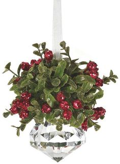 PUCKER UP Mistletoe is a centuries-old tradition that is believed to grant strength, peace, health, fertility and love to those who kiss beneath it. These Kissing Krystals ornaments are available in different shapes and sizes at Ronne's in the Pier Village, 505 Beachview Drive, 912.638.5100.