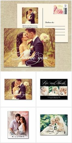 Wedding Thank You Postcards