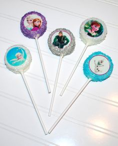 Frozen theme Oreo Cookie Pops ~ NutMeg Confections