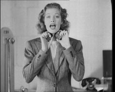 "American actress Lucille Ball makes some very strange noises with this ""new"" invention (1939): http://www.britishpathe.com/video/machine-made-voices"