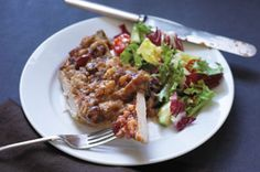 Kraft tangy pork chop cranberry stuffing bake