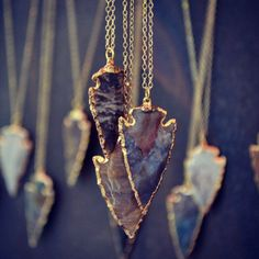 Fancy - Arrowhead Necklaces by Lux Divine