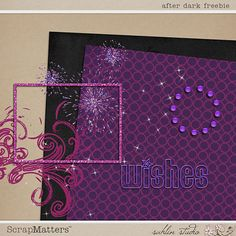 Digital Scrapbooking Freebie - After Dark by Sahlin Studio