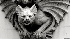 Winged gargoyle on a residential property on Mansfield Road, Nottingham