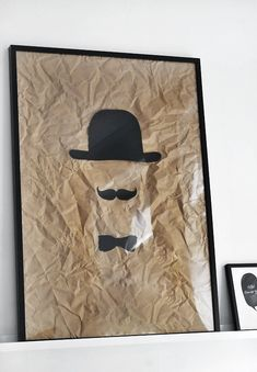 Mustache art! I would be the person to have this where everyone in the living room could see XDDD