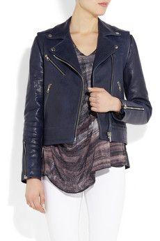 RAG & BONE  Bowery leather biker jacket