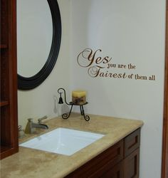 You Are The FairestVinyl Wall Decal By Homesweetwalls On Etsy