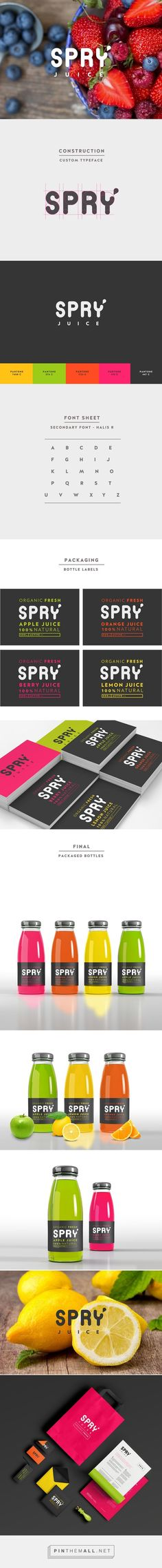 Spry Juice - Branding & Packaging on Behance - created via http://pinthemall.net:
