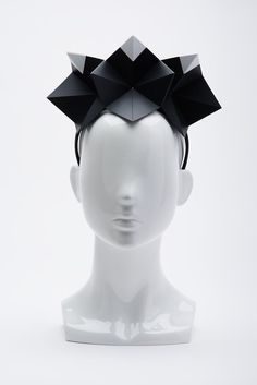Ford Millinery, White Tip Origami Crown