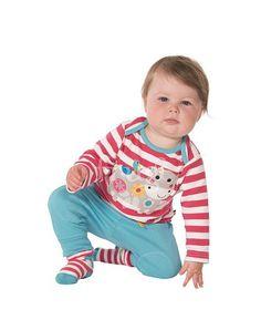 021b53a9fef533 Baby Mädchen Langarm Shirt Streifen Kuh Raspberry Stripe Cow Frugi