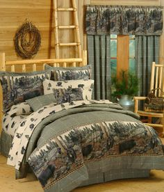 Blue Ridge Trading The Bears Bedding - Best Sales and Prices Online! Home Decorating Company has Blue Ridge Trading The Bears Bedding Full Comforter Sets, Bedding Sets, King Comforter, Bedding Decor, Camo Bedding, Unique Bedding, Rustic Comforter, Country Bedding, Western Bedding