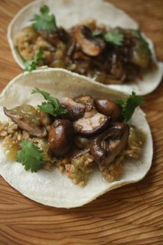 Meatless Monday: Mushroom Tacos with Mexican Brown Rice