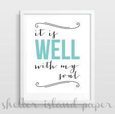 it is well it is well with my soul my soul it is